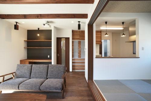 【碧南市の注文住宅】Cocowa home WORKS:7~リビングでつながる和モダンの家~後編