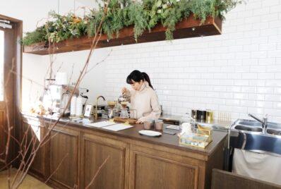 安城市のカフェ「トキイロコーヒー」さんを施工しました